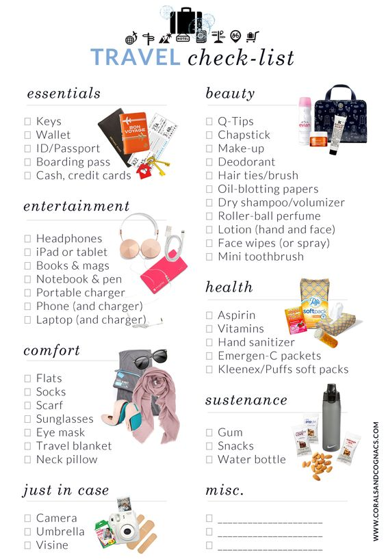 Beach Packing List  Beach Vacation Checklist  Packing Essentials